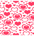 valentine heart pattern vector image vector image