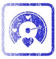 love gauge framed textured icon vector image