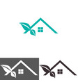 abstract house logo design template vector image vector image