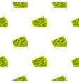 cash pattern flat vector image