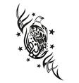Eagle tribal tattoo vector image