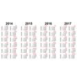 calendar 2014 - 2017 vector image
