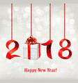 2018 new years background with gift vector image