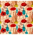 Flowers vases and bottles seamless pattern vector image vector image
