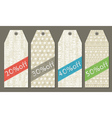 color vintage christmas labels with sale offer vector image