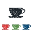 Cup grunge icon set vector image