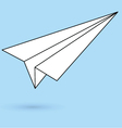 Simple paper plane icon vector image vector image