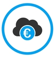 Euro Cloud Banking Rounded Icon vector image