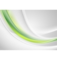 Green and grey abstract smooth waves design vector image vector image