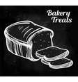Baker shop bread icon in vintage style vector image