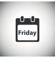 Black friday calendar icon vector image