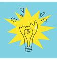 Broken lamp bulb icon Concept of failure vector image