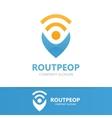 GPS locator design template Pin maps vector image