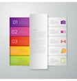 infographics paper strips vector image