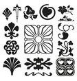 Retro ornaments collection vector image