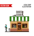 Shoes store detailed flat design icon vector image