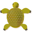 turtle zentangle pattern vector image