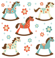 Rocking horses vector image