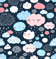 texture of the fun of clouds vector image