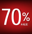Red Sale Poster vector image vector image