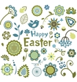 Set of Easter ornamental elements vector image vector image