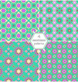4 different seamless patterns tiling vector image