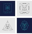 Set of Line Art Badge or Logo Template Wild Animal vector image