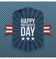Happy Presidents Day big realistic Poster Template vector image