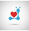blue heart on a white background vector image
