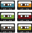 Cassette tapes vector image