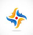 circle abstract decorative logo vector image