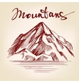 Mountain hand drawn llustration realistic vector image