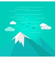 Mountains Landscape in Flat vector image