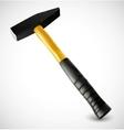 Photorealistic hammer vector image