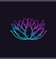 sketch style lotus vector image