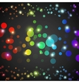 Abstract rainbow glowing circles with lights and vector image