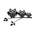 owl snow family vector image