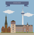 Dusseldorf vector image vector image