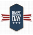Happy Presidents Day big Poster with Ribbon vector image