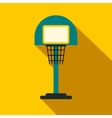 Basketball goal on a playground flat icon vector image