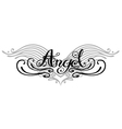 Angel wings tattoo vector image
