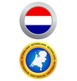 button as a symbol NETHERLANDS vector image