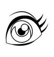 Cartoon eye comic look watch icon linear vector image