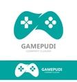 Game joystick or device controller logo vector image