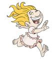 Joyful girl vector image