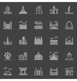 Landmark linear icons vector image