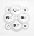 Paper circle infographic web template vector image