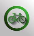 retro bicycle icon vector image