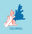 shadow theater hands gesture like squirrel vector image