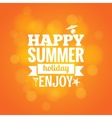 summer holiday design background vector image